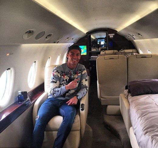 Cristiano Ronaldo flies home in a Private Jet ahead of European Championship qualifiers