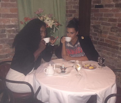 Serena Williams and Kim K  on a date