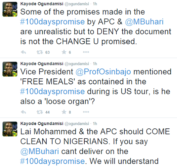 Political Activist mad at APC denying Buhari's 100 Days in office promise