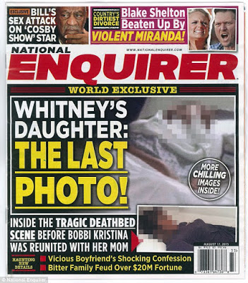 Bobby Kristina Deathbed photo makes front page at a Magazine