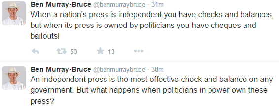 Senator Ben Murray Bruce comes for Politicians who control the Press