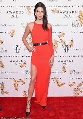 Kendall Jenner at the Fragrance Foundation Awards in New York City