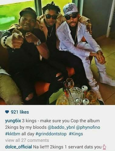 Rapper Yung6ix called a servant after he called himself king on Instagram