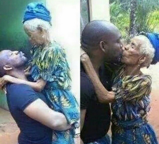 OMG - Man kisses Grandma and it is disgusting