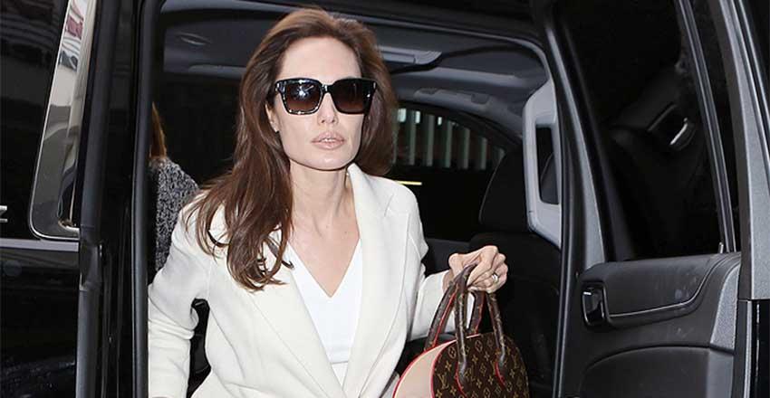 Angelina Jolie involved in a car crash