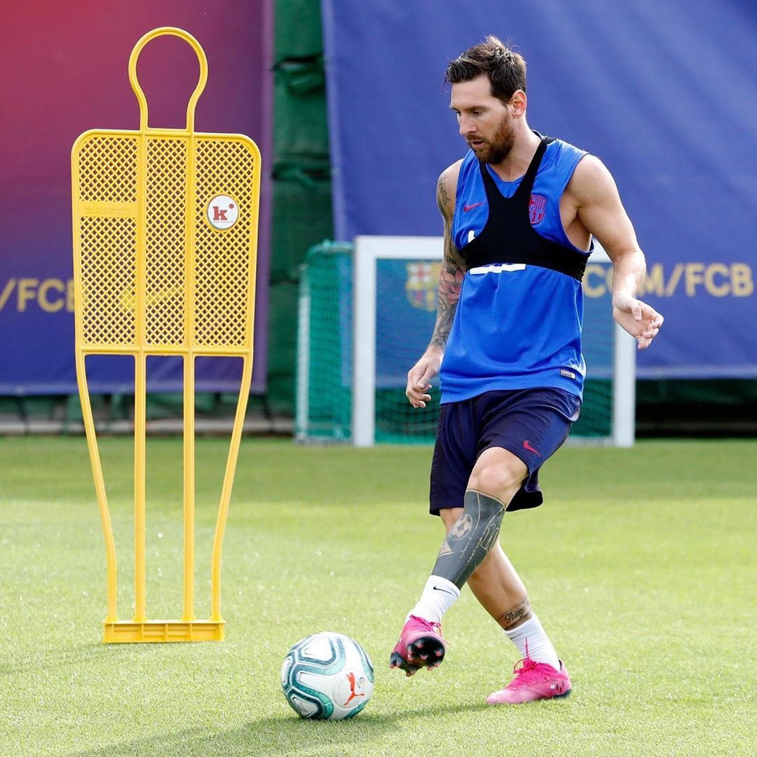 Lionel Messi Back In Training Ground After Injury