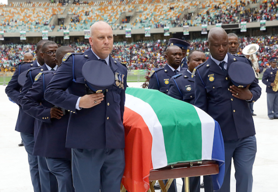 South African Goal keeper who was shot dead at his Girl friends house has been laid to rest.