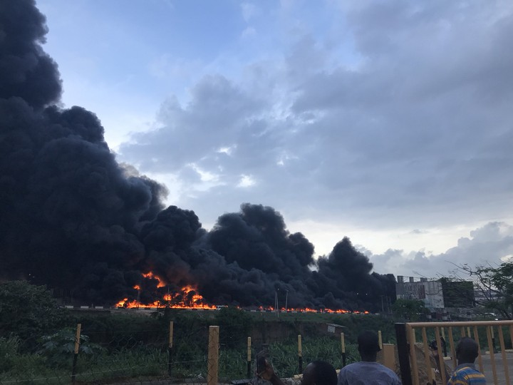 Tanker Explosion in Otedola Bridge - Lagos Ibadan Express - Many Feared Dead - Vehicles Destroyed