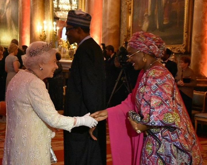 Wife of the Nigerian President Meets The Queen of England