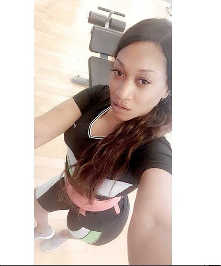 Oge Okoye Shows Her Real Face In The Gym