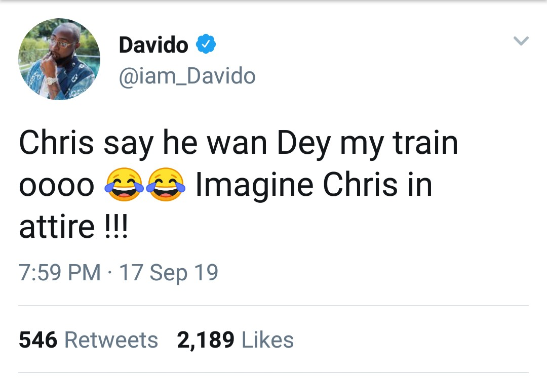 Chris Brown To Join Davido's Groomsmen As He Weds Chioma
