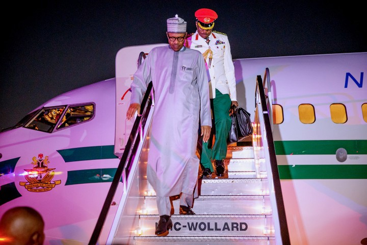 President Buhari Arrives New York To Attend UNGA74 - See Photos