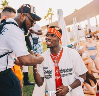 Davido bumps into Pogba in Dubai
