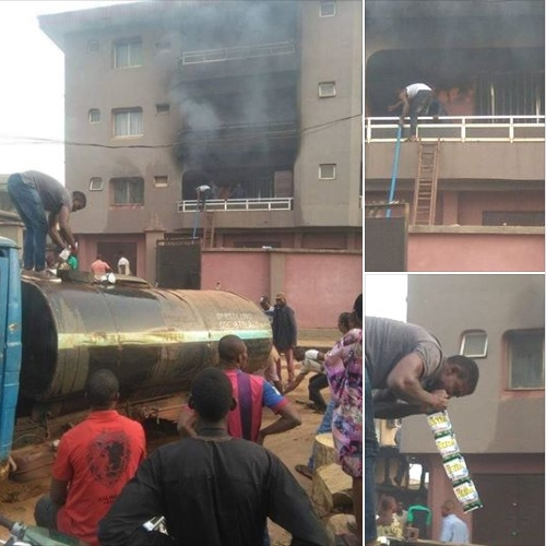 Fire in Nnewi