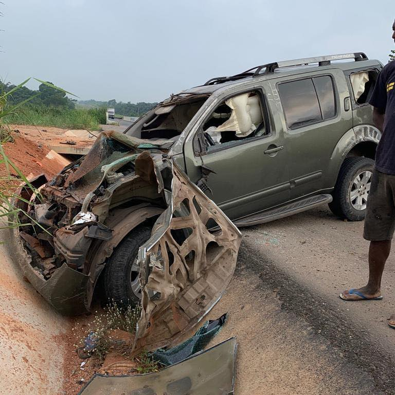 Nollywood Actor Yul Edochie Escapes Fatal Accident - See Photos